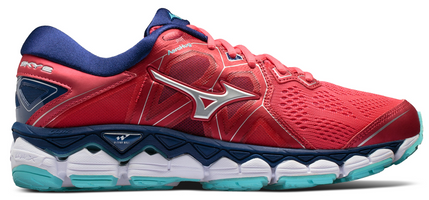 Mizuno Women's Wave Sky 2 - Teaberry/Blue Depths (410996.6M5R)