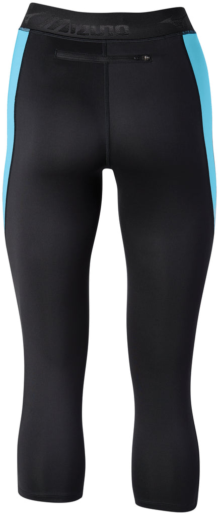 6e1315d166 Mizuno Women's Impulse Core 3/4 Tight - Black/Blue Atoll (421626.905Z) –  Marathon Sports