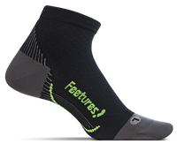 Feetures! Plantar Relief Ultra Light Quarter Sock - Black (PF2501)