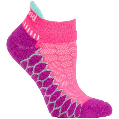Balega Silver Performance No Show Running Socks - Watermelon/Pinkberry (8073-8890)