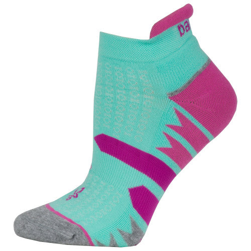 Balega Women's Enduro V-Tech No Show Running Socks - Light Aqua/Mid Grey (7469-0689)