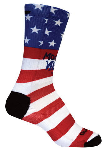 Brooks Pacesetter Freedom Run Crew Sock - Red/White/Blue (741496903)