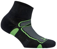 Balega Ultralight Quarter Running Sock - Black/Lime (8372-3733)