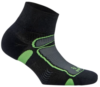 Balega Ultra Light Quarter Running Sock - Black/Lime (8372-3733)