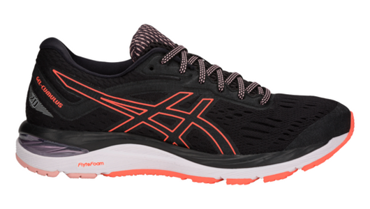 Asics Women's GEL-Cumulus 20 - Black/Flash Coral (1012A008.002)