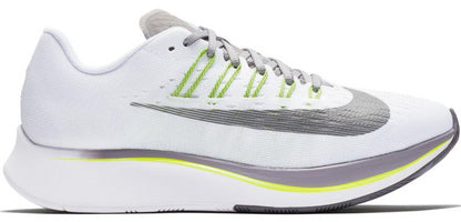 Nike Women's Zoom Fly - White/Gunsmoke-Atmosphere Grey-Volt (897821-101)