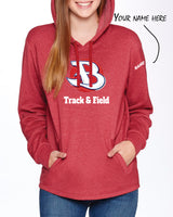 BURLINGTON HOODY - TS-BURLINGTON-9300-HEATHER-CARDINAL