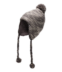 The North Face Women's Fuzzy Earflap Beanie - Rabbit Grey/Peyote (NF00APDB6KJ)