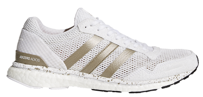 Adidas Women's Adizero Adios Boost 3 - Footwear White/Cyber Metallic/Core Black (BB6409)