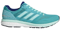 Adidas Women's Adizero Boston 7 - Hi-Res Aqua/Clear Mint/Mystery Ink (BB6498) Lateral Side