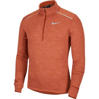 Nike Men's Therma Sphere Element 3.0 1/2 Zip - Cinnamon/HTR/Reflective Silver (BV4713-226)