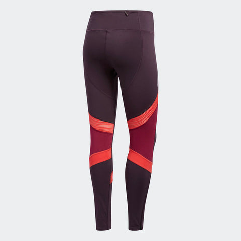Adidas Women's Boston Marathon® 2018 B.A.A. How We Do Long Tights - Burgundy/Red (CW3586)