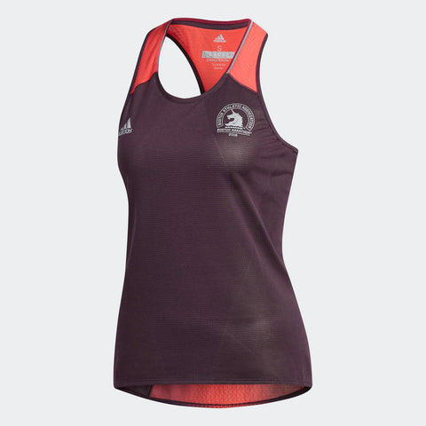 Adidas Women's Boston Marathon® 2018 B.A.A. Supernova Fitted Tank - Burgundy Red (CW3621)