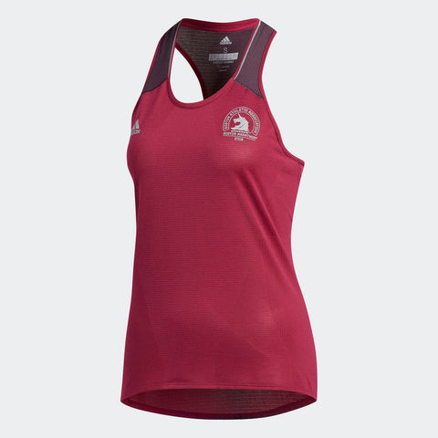 Adidas Women's Boston Marathon® 2018 B.A.A. Supernova Fitted Tank - Mystery Ruby (CW3622)