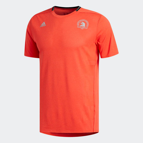 Adidas Men's Boston Marathon® 2018 B.A.A. Supernova Short Sleeve Tee - Hi-Res Red (CW3624)