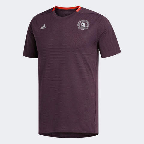 Adidas Men's Boston Marathon® 2018 B.A.A. Supernova Short Sleeve Tee - Burgundy Red (CW3625)