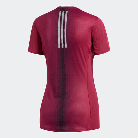 Adidas Women's Boston Marathon® 2018 B.A.A. Supernova Tee - Mystery Ruby (CW3627)