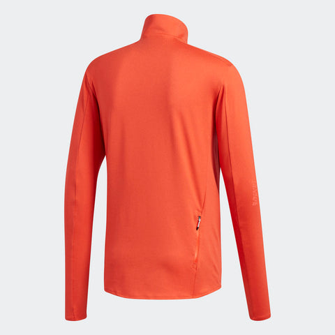 Adidas Men's Boston Marathon® 2018 B.A.A. Supernova Half-Zip Top - Coral (CW3793)