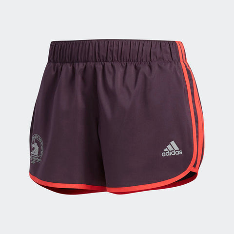 Adidas Women's Boston Marathon® 2018 B.A.A. M10 Icon Shorts - Burgudy Red (CW3796)