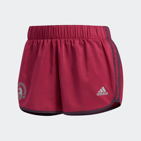 Adidas Women's Boston Marathon® 2018 B.A.A. M10 Icon Shorts - Mystery Ruby (CW3797)