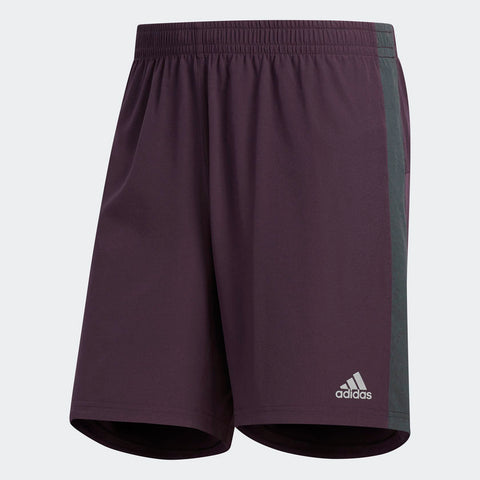 Adidas Men's Boston Marathon® 2018 B.A.A. Supernova Shorts - Burgundy Red/Silver (CW3798)