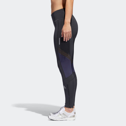 Adidas Women's Boston Marathon® 2018 B.A.A. How We Do Long Tights - Carbon (DJ2098)