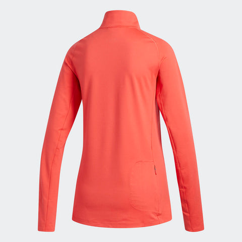Adidas Women's Boston Marathon® 2018 B.A.A. Supernova Half-Zip Top - Coral (DJ2099)