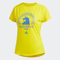 Adidas Women's 2018 Boston Marathon® Logo Tee - Yellow (DP5682)