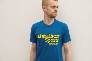 Marathon Sports Men's Logo Tee - Royal/Yellow (M LOGO TEE 2)
