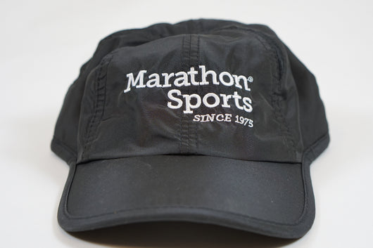 Marathon Sports Logo Running Hat - Black