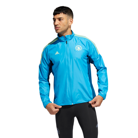 Adidas Men's Boston Marathon® 2019 B.A.A. Celebration Jacket - Shock Cyan (DX1851)