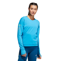 Adidas Women's Boston Marathon® 2019 B.A.A. Supernova Sweatshirt - Shock Cyan (DX8729)