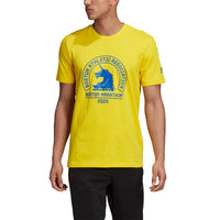 ADIDAS B.A.A Men's Boston Marathon Logo tee 2020 - Yellow (GK4328)