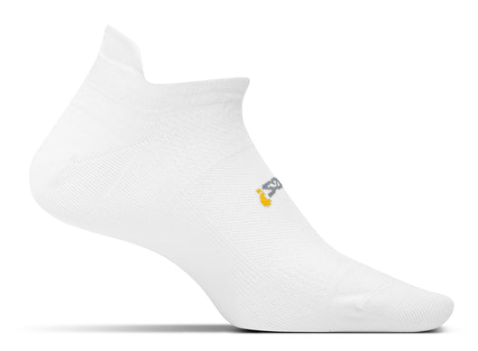 Feetures! High Performance Ultra Light Cushion No-Show Tab Running Socks - White (FA5500)