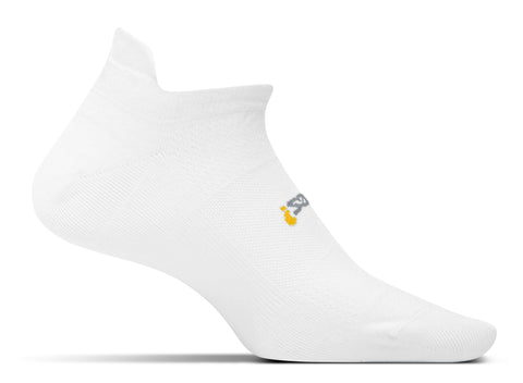 Feetures! High Performance Ultra Light Cushion No Show Tab Running Socks - White (FA5500)