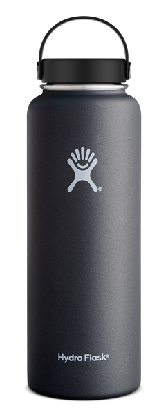 Hydro Flask 40 oz Wide Mouth Bottle w/ Flex Cap - Black (W40TS001)