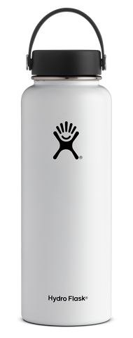 Hydro Flask 40 oz Wide Mouth Bottle w/ Flex Cap - White (W40TS110)