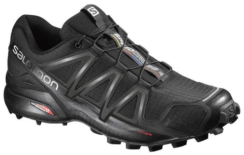 Salomon Men's Speedcross 4 - Black/Black/Black Metallic (L38313000)