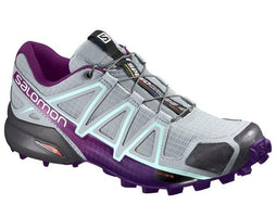 Salomon Women's Speedcross 4 - Quarry/Acai/Fair Aqua (L39466400)