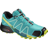 Salomon Women's Speedcross 4 - Bluebird/Acid Lime/Black (L40483600)