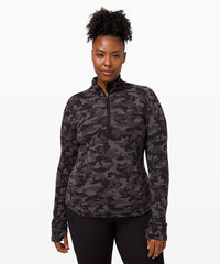 **Available in Select Stores only** lululemon Women's Run Briskly 1/2 Zip - Heritage Camo Jacquard Lunar Rock ( LW3DVRS-45970)