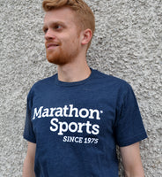 Marathon Sports Men's Logo Tee - Navy/White (M LOGO TEE 1)