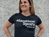 Marathon Sports Women's Logo Tee - Heathered Black (W LOGO TEE 1)