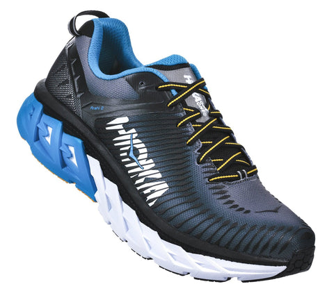 Hoka One One Men's Arahi 2 - Black/Charcoal Gray (1019275-BCCG)