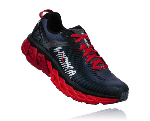 Hoka One One Men's Arahi 2 - Black/High Risk Red (1019275-BHRRD)