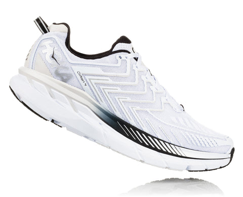 Hoka One One Men's Clifton 4 - White/Black (1016723-WBLC)