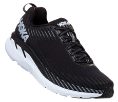 Hoka One One Men's Clifton 5 Wide (2E) - Black/White (1093757-BWHT)
