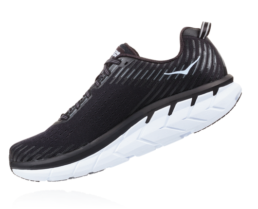 Hoka One One Men's Clifton 5 - Black/White (1093755-BWHT)