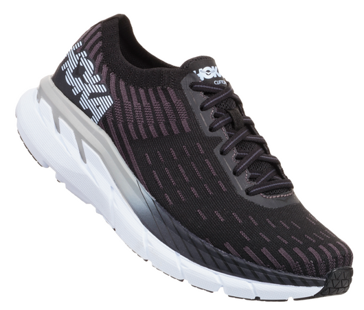 Hoka One One Men's Clifton 5 Knit - Black/White (1094309-BWHT)