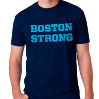 Boston Strong Men's Cotton T-Shirt - Navy